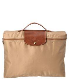 Longchamp Le Pliage Nylon Document Holder' In Beige Milan Fashion Weeks, New York Fashion, Designer Purses, Designer Handbags, Document Holder, Crossbody Bag, Tote Bag, Replica Handbags, Longchamp
