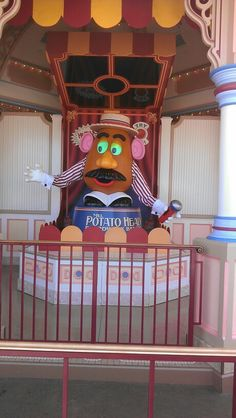 Mr. Potato head in California Adventure is a fun part of the Toy Story Mania ride.