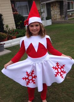 Elf on the Shelf Halloween Costume. No pattern, no link.