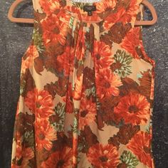 Blouse sleeveless Fancy floral print Talbots Tops Blouses