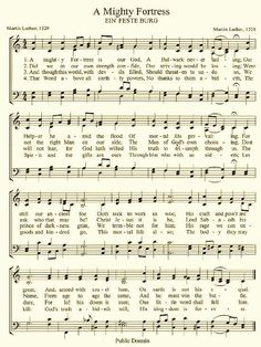 Hymn- A Mighty Fortress / Our college choir was known to sing this one!