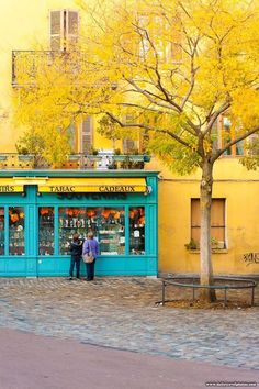 2902349ceb Matching Yellow Building Wall and Yellow Autumn Leaves - Annecy