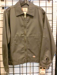 a444498089 Dickies UNLINED Eisenhower Jacket Men's Work Uniform Style JT75-CH CHARCOAL  SIZE #Dickies #WorkJacket #dickies