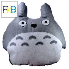Handmade Totoro pillow #frikibeads #pillow #cojin #almohada #totoro #tonarinototoro #mivecinototoro #studioghibli #ghibli
