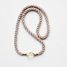 Beautiful and beachy necklace. #rope