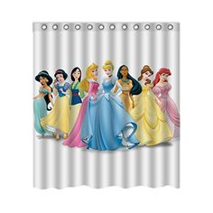 Disney Princess Custom Home Decor Stylish Waterproof Polyester Fabric Shower Curtain 66  72 *** To view further for this item, visit the image link. Note:It is Affiliate Link to Amazon.