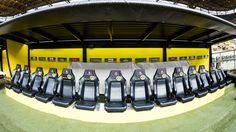 The benches at the BVB Stadion Dortmund