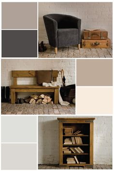 The neutral colour palette for our Autumn hallway furniture shoot at the wonderful Shottle Hall #derbyshire