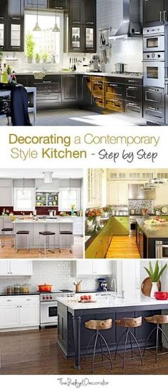 Step by Step: Decorating a Contemporary Style Kitchen! by dixie