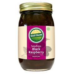 Seedless Black Raspberry Jam - ORDER ONLINE at www.sustainbrand.com