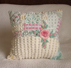 Sweet Confection Vintage Chenille Pillow 18 by SURELYCHENILLE