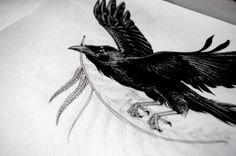 raven tattoo by stasia burrington
