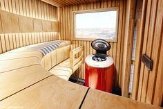 Sauna Fińska z wykończeniem Harvia Ventura. Piec klasy Forte AF