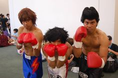 Between their pompadours, boxing gloves and death glares, these guys definitely had a cosplay KO.