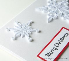 Items similar to Handmade Quilled Christmas Card Snowflakes Quilling Unique Holiday Gift Xmas Keepsake Elegant White Red Paper Art Beautiful Custom on Etsy Christmas Paper, Christmas Cards, Merry Christmas, Greeting Cards Handmade, 5sos, Snowflakes, Paradise, Paper Quilling, Unique Jewelry