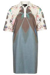 Orchid Print Polo Dress