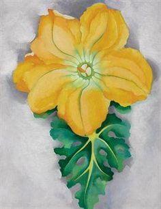Georgia O'Keeffe. Squash Blossom No. II, 1925