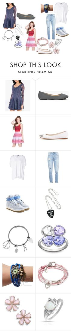 """Music Sounds Better"" by diyadawda13 ❤ liked on Polyvore featuring Wet Seal, MICHAEL Michael Kors, DKNY, Paige Denim, NIKE, Swarovski, Retrò, Lizzy James and Bling Jewelry"