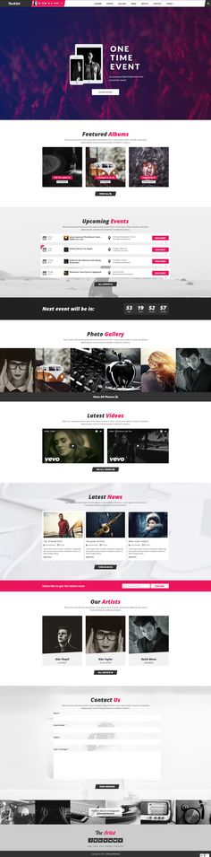 TheArtist is a modern WordPress music theme that focuses on the music industry. It can be used for the websites of deejays, music bands, radio websites, and vocal performers. Looks great on all devices, both mobile and desktop.  Once you install the theme, you will have a fully functional website with a onepage homepage style, a complete blog and shop, all in one theme.