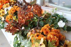 Fall Porch Decor- adorbz! Love the lighted pumpkins...
