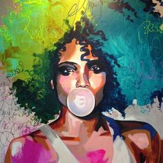 Gallery – Anette Tjærby Manege – About Hair Pop Art Portraits, Portrait Art, Black Art Painting, Painting Abstract, Vintage Illustration, African Art Paintings, Desenho Tattoo, Afro Art, African American Art