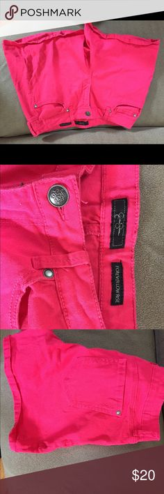 Jesica Simpson Shorts Size 30 waist, color is hot pink. Jessica Simpson Shorts