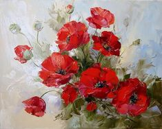 Red poppy flowers art picture paint on canvas diy digital oil painting by numbers home decoration craft gift Art Floral, Poppy Drawing, Art Timeline, Russian Art, Red Poppies, Poppy Flowers, Pictures To Paint, Flower Art, Watercolor Paintings