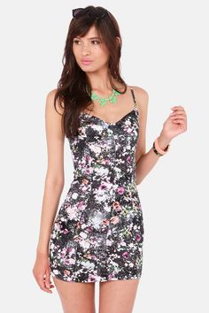 Volcom Safe Place Black Print Dress at LuLus.com! - XS - 35 - ale