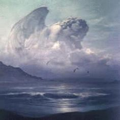 Thought provoking...D o you see it? There is an angelic form in the cloud.