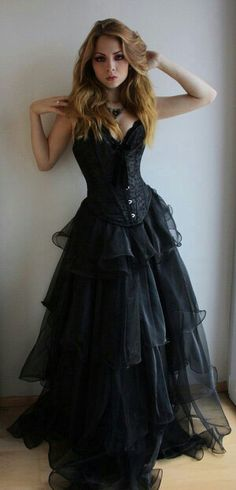 black corset high low gothic party dress strapless short