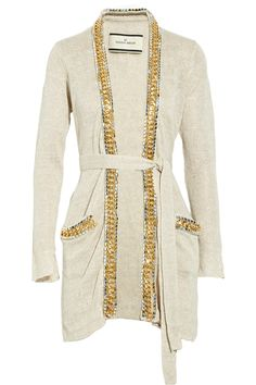 BY MALENE BIRGER  Chennie embellished linen cardigan (need this)