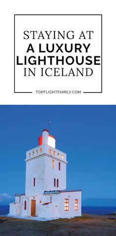 If you love lighthouses, you'll want to stay at this Iceland lighthouse hotel. Imagine playing lighthouse keeper while enjoying amazing views!