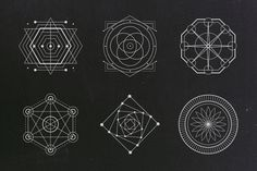 A set of 24 sacred geometry shapes in vector format. Includes .AI and .EPS files. Thank You!