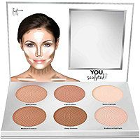 IT Cosmetics You Sculpted! Universal Contouring Palette IT Cosmetics You Sculpted! Palette Contouring, Light Contouring, Contouring And Highlighting, Makeup Contouring, Easy Contouring, Contouring Guide, Clinique Makeup, Makeup Palette, It Cosmetics