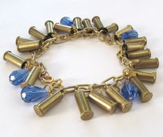 Totally Awesome Goods - Bullet Bracelet with Glass Beads, Blue, $46.00 (http://www.totallyawesomegoods.com/bullet-bracelet-with-glass-beads-blue/)