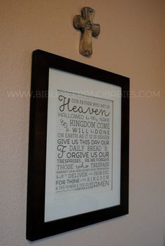 Lord's Prayer Free Printable - perfect for the kid's room! - Bible, Beer and Babies