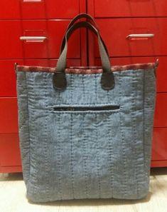 스트라잎 패치가방 : 네이버 블로그 Burlap, Reusable Tote Bags, Bags Sewing, Tutorials, Patterns, Denim, Scrappy Quilts, Totes, Block Prints