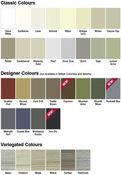 Vinyl Siding Color Chart Click Here To View Monogram 46