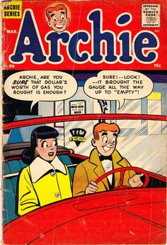 Community Post: 31 Totally Wearable Vintage Archie Comics Looks For Girls Archie Comics Characters, Archie Comic Books, Vintage Comic Books, Vintage Comics, Vintage Art, Archie Comics Riverdale, Archie Betty And Veronica, Old Comics, Comics Girls