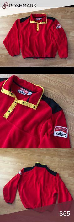 Vintage 1990's Marlboro fleece pullover Excellent condition Marlboro adventure team pullover Men's XL- fits slightly small Jackets & Coats
