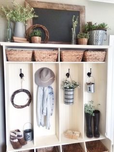 Cubbies in our entryway