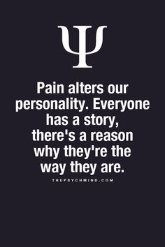 There's ALWAYS a reason... Never just pass judgement and not even try to understand...... Gets on my nerves when people do that......