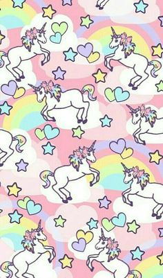 We heart it. unicorn rainbow pattern ☆ find more kawaii android + iphone wallpapers Iphone Wallpaper Unicorn, Unicornios Wallpaper, Unicorn Backgrounds, Handy Wallpaper, Cute Backgrounds, Wallpaper Backgrounds, Iphone Wallpapers, Vintage Wallpapers, Real Unicorn