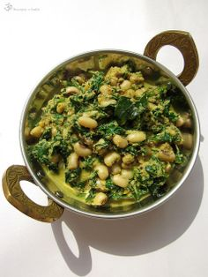 Lobia palak curry (in slovak)