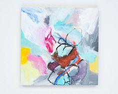 XXL 2-part original work of art abstract painting by ARTbyKirsten
