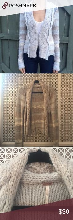 Free People blue and gray cardigan So cozy and soft. Excellent condition Free People Sweaters Cardigans