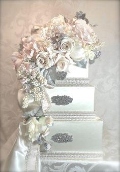 Wedding Card Box Elegantly Created wedding card by WrapsodyandInk, $138.00