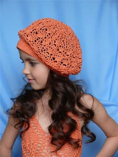 Peach Child Beret free crochet graph pattern and pictorial. Keep scrolling down the pattern is there eventually.