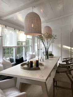 New Gallery — Heiberg Cummings Dining Room Design, Dining Area, Dining Table, Cabin Chic, Kitchen Banquette, Beach Kitchens, Shed Homes, Hamptons House, Cottage Living