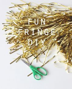 coco+kelley metallic fringe garland DIY #tassel #tutorial (pretty basic, but i'd never have thought of using the metallic stuff . . . )